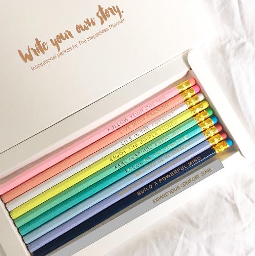 Inspirational Pencils Set (Happiness Planner)