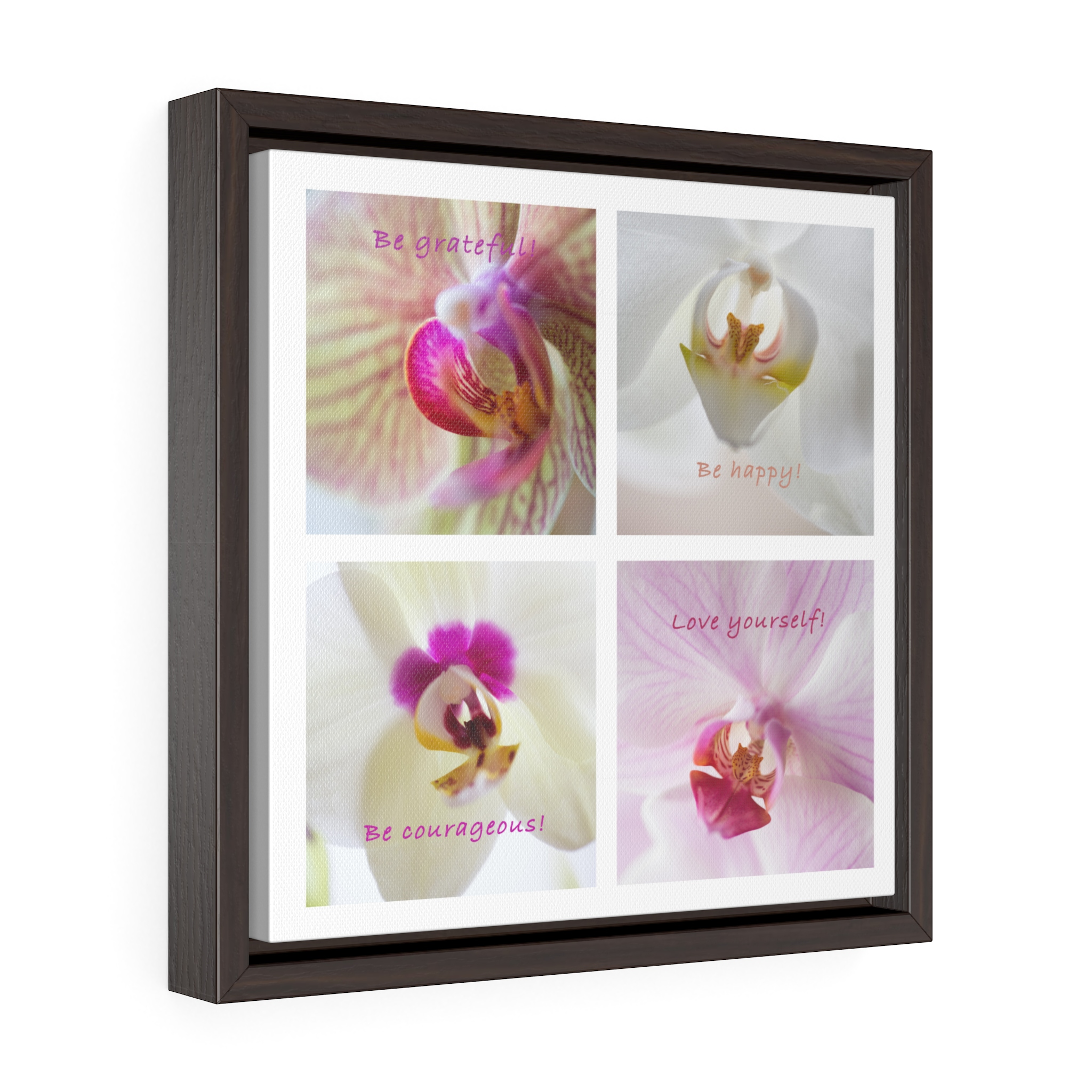 Square Framed Premium Gallery Wrap Canvas - Orchid - MindGourmet