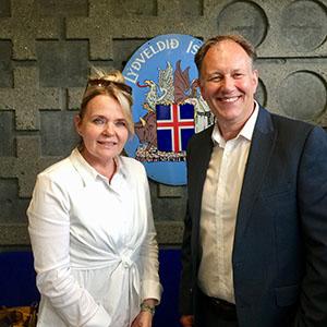 Rúna Magnusdottir and Nick Haines